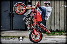 Kawasaki 636 Red Stunt bike