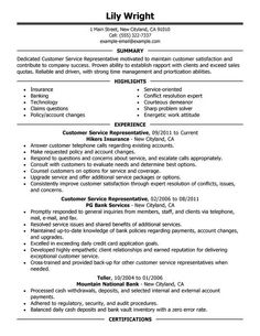 Resume Headers Fascinating Sample Resume Form For A Customer Service Representative Page 1 .