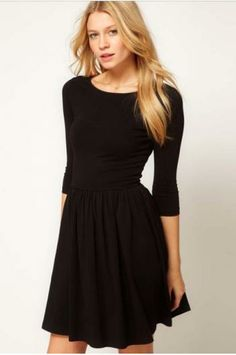Black Pleated Dress.