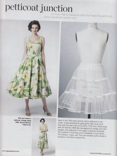 Sewing Dress In the the yardage of your petticoat determined your fashion currency. My older sister had a 75 foot, but I only had a 50 foot petticoat. Diy Clothing, Sewing Clothes, Clothing Patterns, Dress Patterns, Rock Clothing, Sewing Hacks, Sewing Tutorials, Tutorial Sewing, Fru Fru