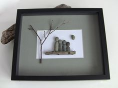 FAMILY - Family of 4 - Family Wall Art - Pebble Art Picture - Stone Art - Christmas Gift for a Family - Family Picture - Unique Family Gift. $65.00, via Etsy. CUTE!!