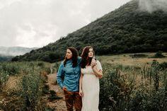 Blue Ridge Parkway, Blue Ridge Mountains, Mountain Engagement Photos, First Dates, Asheville, Mists, Photoshoot, Couple Photos, Couples
