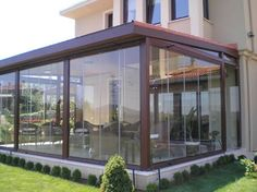 # Door and # Glass # Selections in Prefabricated Houses Aluminum Pergola, Metal Pergola, Backyard Pergola, Modern Pergola, Gazebo, Wooden Words, Back Gardens, Roof Gardens, Paros