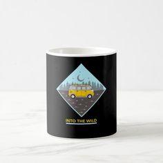 Into the Wild Camper Design Coffee Mug romantic travel, wanderlust travel, tahiti travel #traveltipschile #oreca #pole, back to school, aesthetic wallpaper, y2k fashion