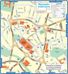 Map of Newcastle under Lyme created in 2011 for Thomson Directories. One of approximately 350 UK town and city maps produced royalty free. Find out more...  http://www.pcgraphics.uk.com   or read our blog...    http://www.pcgraphics.uk.com/blog/