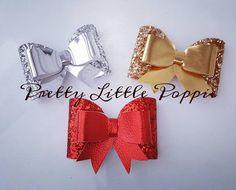 Pretty glitter and metallic bows by PrettyLittlePoppie1 on Etsy