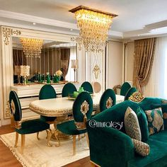 Customer Project/Florya/İstanbul/Turkey in 2020 Home Design Living Room, Elegant Living Room, Luxury Homes Interior, Home Interior Design, Rideaux Design, Dining Room Table Decor, Luxury Dining Room, Luxurious Bedrooms, Luxury Furniture