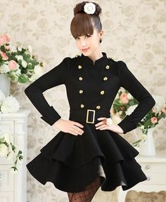 Fashion Mandarin Collar-Trench Coat