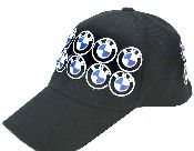 BMW hat with embroidered BMW logos. #racing #formularacing #Indy