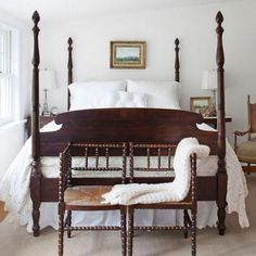 Four Poster Bed:  If she didn't have a cast iron bed, Granny may have had an equally trendy four-poster bed, like this one from the '40s.