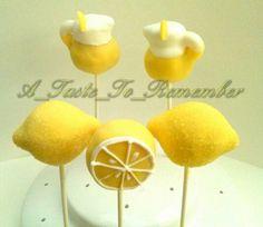 Lemon cake pops for lemonade stand party.