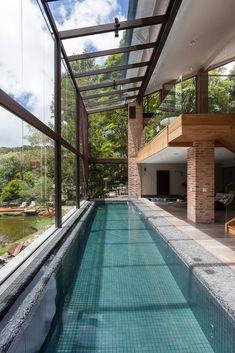Indoor Swimming Pools, Swimming Pool Designs, Lap Pools, Backyard Pools, Pool Decks, Pool Landscaping, Langer Pool, Dream Pools, Pool Houses