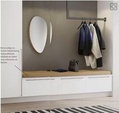 Ikea Hallway, Hallway Storage, Home Entrance Decor, House Entrance, Home Decor, Interior Exterior, Interior Architecture, Interior Design, Garderobe Design
