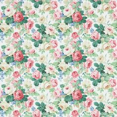 Chelsea by Sanderson - White / Pink - Wallpaper : Wallpaper Direct Paper Design, Fabric Design, Salmon Rosado, Chelsea Wallpapers, Scrapbooking, Concept Home, Backrounds, Print Wallpaper, Scrapbooks