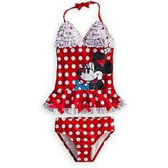 Disney Mickey Mouse girls WHITE RED swimsuit size XXS  Age 6 NEW  FREE POST