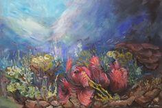 Aquatic II/ painting, acrylic on canvas