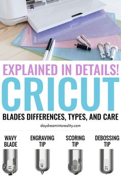 Let me help you avoid the headache of learning and figuring out what you need to know about the Cricut blades.If you want to learn the differences, types, care, and everything about them, you are in the right place! Cricut Explore Projects, Cricut Explore Air, Circuit Projects, Vinyl Projects, Cricut Help, Cricut Air, Cricut Blades, Cricut Tutorials, Cricut Ideas