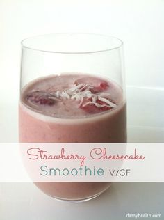 Strawberry Cheesecake Youth Glow Smoothie. Nutrient dense, anti-oxidant rich beauty smoothie. #vancouver #raw #vegan #sexy #glutenfree #goddessglow #cleanrecipe #bestrecipesever #bikinibody Details & recipe here www.damyhealth.co...