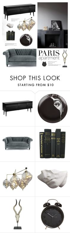 """Paris Apartment"" by bellamarie ❤ liked on Polyvore featuring interior, interiors, interior design, home, home decor, interior decorating, Muuto, Fornasetti, Three Hands and parisapartment"
