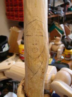 A spot of wood spirit carving