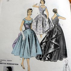 Advance American Designer 8118 circa 1957 Daytime or Evening Dress by Nettie Rosenstein
