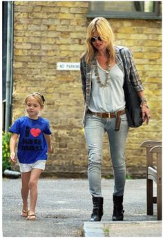 Or you could copy kate moss , picking up the kids from school in this???