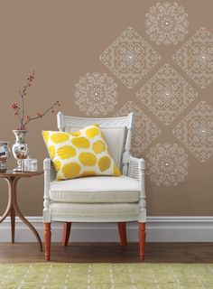A chic wall treatment idea diy decor with wall decals
