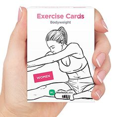EXERCISE CARDS by WorkoutLabs Visual Bodyweight Workout Cards  1 Bestselling Premium Waterproof Fitness Flash Cards for at Home Workouts without Equipment Women >>> Check out this great product.
