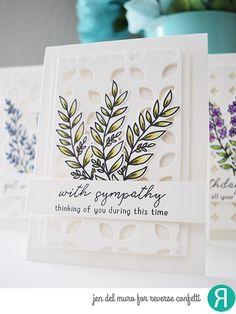 sympathy card by Jen del Muro