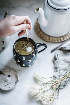 Should You Add Adaptogens to Your Daily Routine? Food Photography Styling, Food Styling, Tea Recipes, Smoothie Recipes, Drink Recipes, Smoothies, Local Milk, Milk Alternatives, Golden Milk