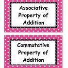 This set includes all 97 vocabulary words that go along with the third grade Go Math Houghton Mifflin Harcourt series.  I have included the vocabul...