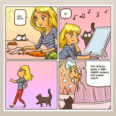 The one about staring | Catsu The Cat