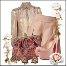 """Golden Blush"" by jacque-reid ❤ liked on Polyvore"
