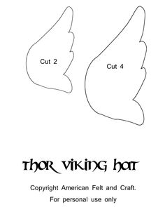 Thor Viking Hat Template