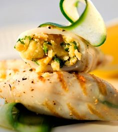 This Baby Calamari with Garlic & Herb Stuffing recipe will make an impressive appetiser at your next dinner party Ingredients 50 g pack) Pyotts Salticrax 15 ml lemon rind … Seafood Dishes, Fish And Seafood, Seafood Recipes, Herb Stuffing, Stuffing Recipes, South African Recipes, Ethnic Recipes, Calamari, Light Recipes