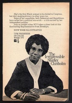 The Irrepressible Shirley Chisholm Women's History, Black History, Shirley Chisholm, Art Frames, Democrats And Republicans, African Diaspora, Deathly Hallows, African American History, Call Her