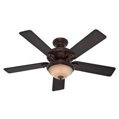 Hunter Fan 52-inch Vernazza Brushed Cocoa 5-blade Aged Barnwood Ceiling Fan   Overstock.com Shopping - Great Deals on Hunter Fan Ceiling Fans