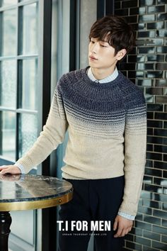 Seo Kang Jun is a chic autumn man in apparel from 'T.I For Men'