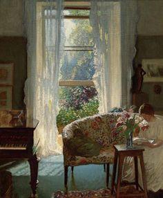 Вид из окна на полотнах западных мастеров