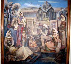 An Armenian painting at the art museum in Vanadzor, Armenia