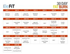 30 day fat burn calendar http://www.youtube.com/playlist?list=PL1c41tQdiDhPkUERLFje9twkoHtPkWr1l