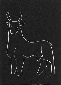 Artwork by Henri Matisse - 1944 Pasiphae Series (Bull) - 1944,   Print   Lino   Artstack - art online