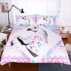 Lit simple mon petit poney party parure de lit licorne arc en ciel rose polka dots