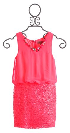 Elisa B Sequin Sunshine Pink Girls Dress $59.00