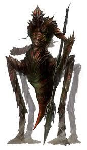 Myrmidon (Humanoid/Vermin/Centauric)(Medium) – Whenever the Sinlord of Envy (known as Beelzebub or the lord of Insects by many) goes to war he calls his huge armies of Myrmidons at his side.  Myrmidons are legendary warriors with great strength, stamia and painful sting and bite attacks, they mostly carry spears in battle. Myrmidons never fight alone and always come in huge numbers, to get to Beelzebub means fighting a lot of these guys. (Greek)