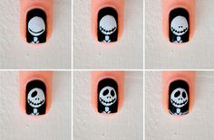 Halloween nail designs 48 Astonishing Nail Art Tutorials Ideas Just For You: Nail Art is the art of styling your finger nails with decorative stencils, polish and patterns that are unique and … Halloween Nail Designs, Halloween Nail Art, Easy Halloween, Nailart Rose, Nail Art Grey, Halloween Gesicht, Manicure, Modern Nails, Nail Swag
