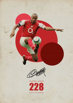 Premier League Legends on Behance - Thierry Henry - Arsenal