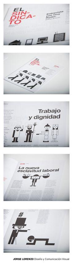 Diseño de revista e ilustraciones para Comisiones Obreras de Asturias #editorialdesign #diseño #Asturias #sindicato