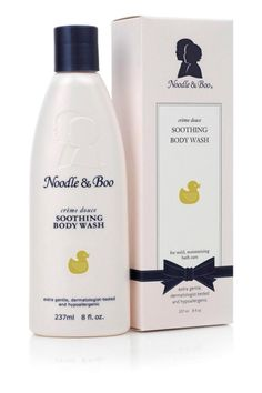 Noodle & Boo Soothing Body Wash for mild, moisturizing bath care Soothes tender skin with allantoin and nutrient-rich milk protein. Cleans without stripping natural moisture from skin. Soap-free formula rebalances natural pH. Tearless. 8 oz bottleadd a calming element to baby bath time Soothes tender skin with allantoin and nutrient-rich milk protein. Cleanses without stripping natural moisture. Soap-free formula rebalances skin's pH while provitamin B and vitamin E condition and moisturize…