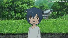 Les Enfants loups, Ame et Yuki Mamoru Hosoda Fanarts Anime, Anime Manga, Anime Guys, Anime Art, Hayao Miyazaki, Wolf Children Ame, Wolf Kids, Vocaloid, Lobo Anime